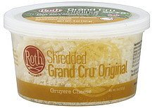 shredded cheese gruyere, grand cru original Roth Nutrition info