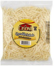 shredded cheese mexican La Casona Nutrition info