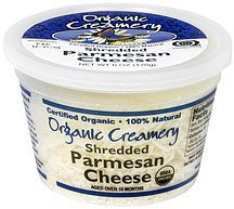 shredded cheese parmesan Organic Creamery Nutrition info