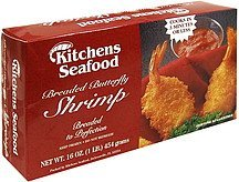 shrimp butterfly, breaded Kitchens Seafood Nutrition info