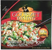 shrimp fried rice Gourmet Dining Nutrition info