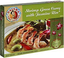 shrimp green curry with jasmine rice spicy Neisha Thai Cuisine Nutrition info