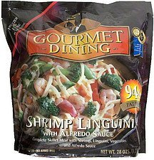 shrimp linguini with alfredo sauce Gourmet Dining Nutrition info