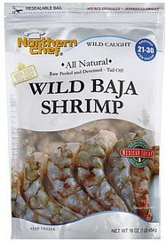 shrimp mexican, wild baja Northern Chef Nutrition info