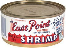 shrimp tiny north pacific East Point Nutrition info