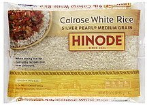 silver pearl rice medium grain Hinode Nutrition info