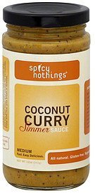 simmer sauce coconut curry, medium Spicy Nothings Nutrition info