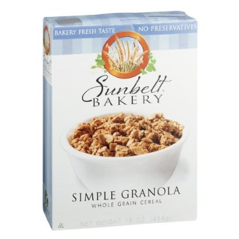 simple granola whole grain cereal Sunbelt Bakery Nutrition info