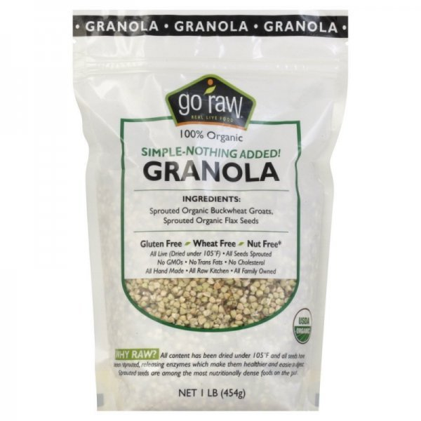 simple granola Go Raw Nutrition info