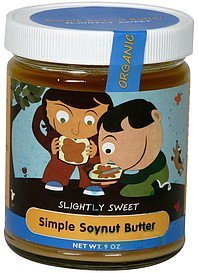 simple soynut butter organic, slightly sweet Simple Food Nutrition info