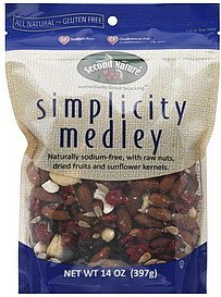 simplicity medley Second Nature Nutrition info