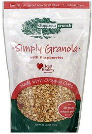 simply granola with raspberries Chappaqua Crunch Nutrition info
