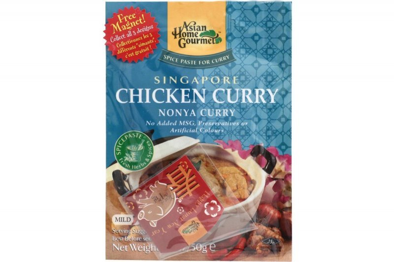 singapore chicken curry nonya curry Asian Home Gourmet Nutrition info