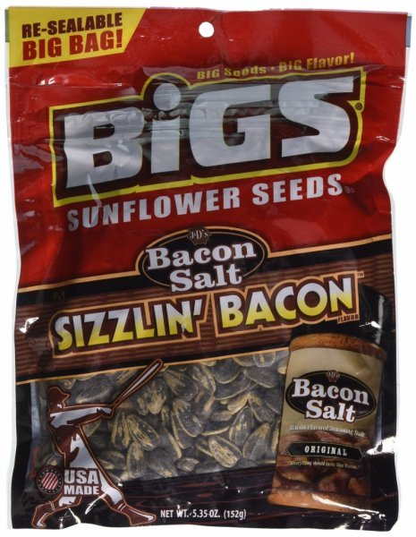 sizzlin bacon sunflower seeds Bigs Nutrition info