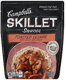 skillet sauces toasted sesame with garlic and ginger Campbells Nutrition info