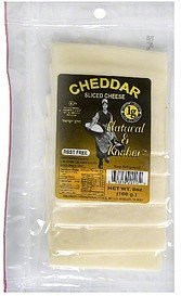 sliced cheese cheddar Natural & Kosher Nutrition info