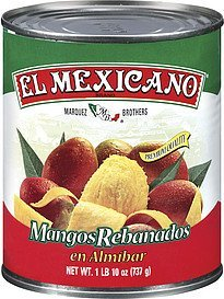 sliced mangos in syrup El Mexicano Nutrition info