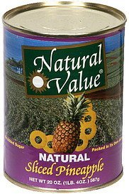 sliced pineapple natural Natural Value Nutrition info