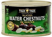 sliced water chestnut in water Tiger Tiger Nutrition info