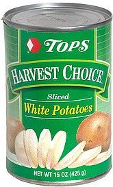 sliced white potatoes Hy Tops Nutrition info