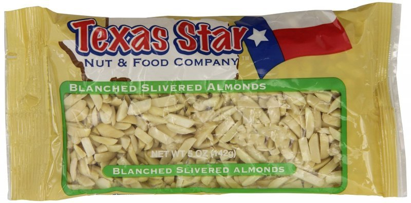 slivered almonds Texas Star Nutrition info