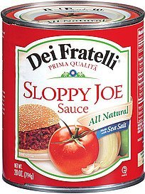 sloppy joe sauce Dei Fratelli Nutrition info