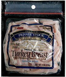 smoked boneless turkey breast julienne sliced Rose Nutrition info