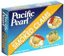 smoked clams fancy whole Pacific Pearl Nutrition info