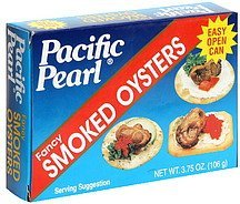 smoked oysters fancy Pacific Pearl Nutrition info