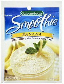 smoothie banana Concord Foods Nutrition info