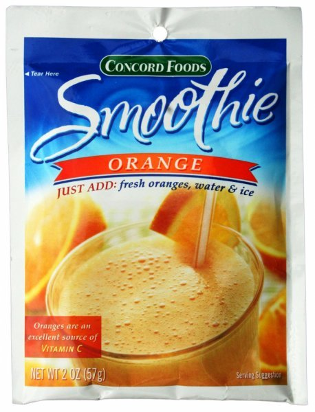 smoothie orange Concord Foods Nutrition info