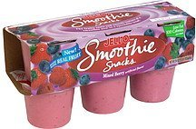 smoothie snacks mixed berry Jell-o Nutrition info