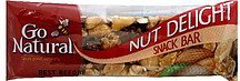 snack bar nut delight Go Natural Nutrition info