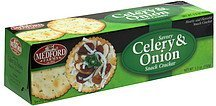 snack cracker savory celery & onion Medford Farms Nutrition info