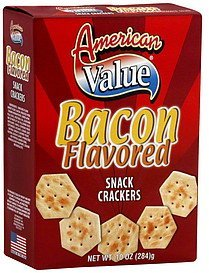 snack crackers bacon flavored American Value Nutrition info