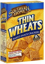 snack crackers baked, thin wheats Southern Home Nutrition info