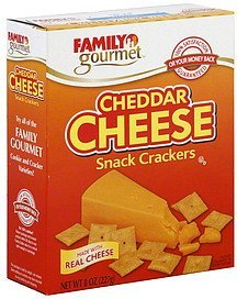 snack crackers cheddar cheese Family Gourmet Nutrition info