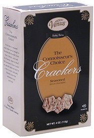 snack crackers connoisseur's choice, seasoned Venus Nutrition info