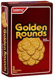 snack crackers golden rounds Salerno Nutrition info