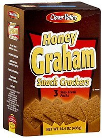 snack crackers honey graham Clover Valley Nutrition info