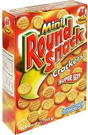 snack crackers mini round Minuet Nutrition info