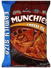 snack mix cheese fix, family size Munchies Nutrition info