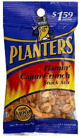 snack mix flamin cajun crunch Planters Nutrition info