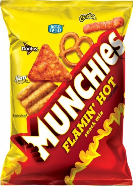 snack mix flamin' hot Munchies Nutrition info