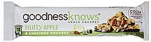 snack squares nutty apple GoodnessKnows Nutrition info