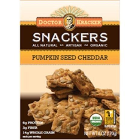 snackers pumpkin seed cheddar Doctor Kracker Nutrition info