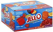 snacks low calorie gelatin, sugar free, variety pack Jell-o Nutrition info