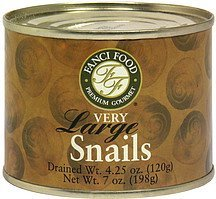 snails very large Fanci Food Nutrition info