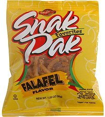 snak pak favorites falafel flavor Gesher Nutrition info
