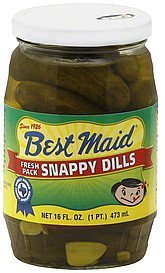 snappy dills fresh pack Best Maid Nutrition info